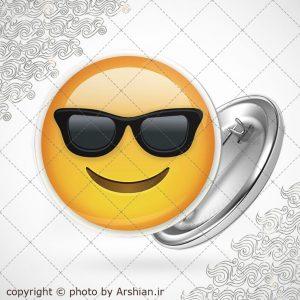 پیکسل ایموجی عینک آفتابی