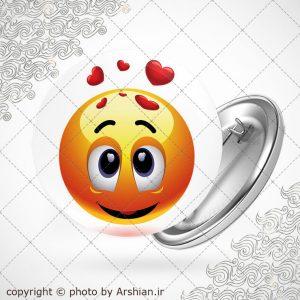پیکسل ایموجی blushing love