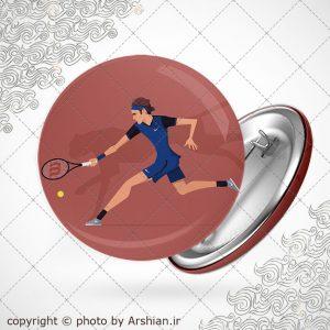پیکسل با طرح تنیس