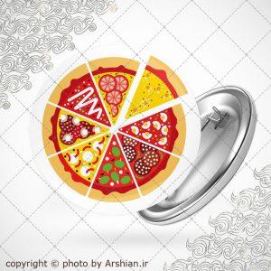 پیکسل با طرح پیتزا