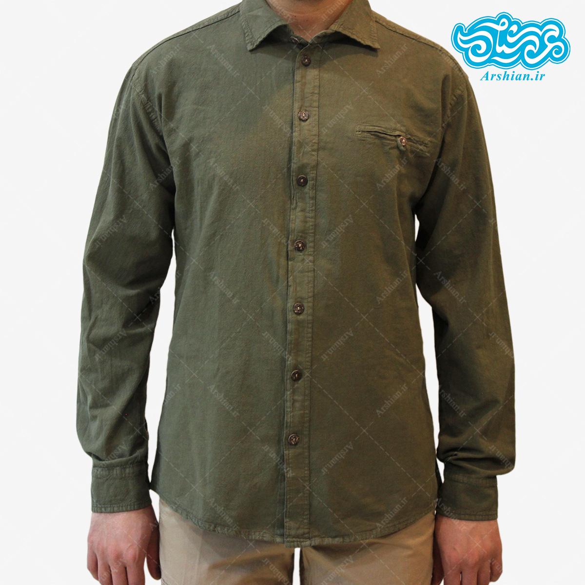پیراهن الیاف طبیعی طرح ایلیا مدل sa002