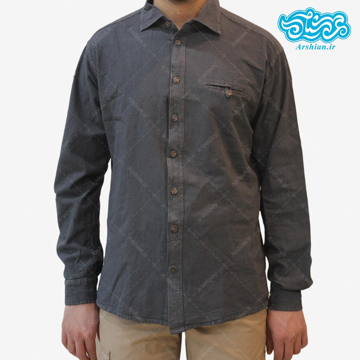 پیراهن الیاف طبیعی طرح ایلیا مدل t001