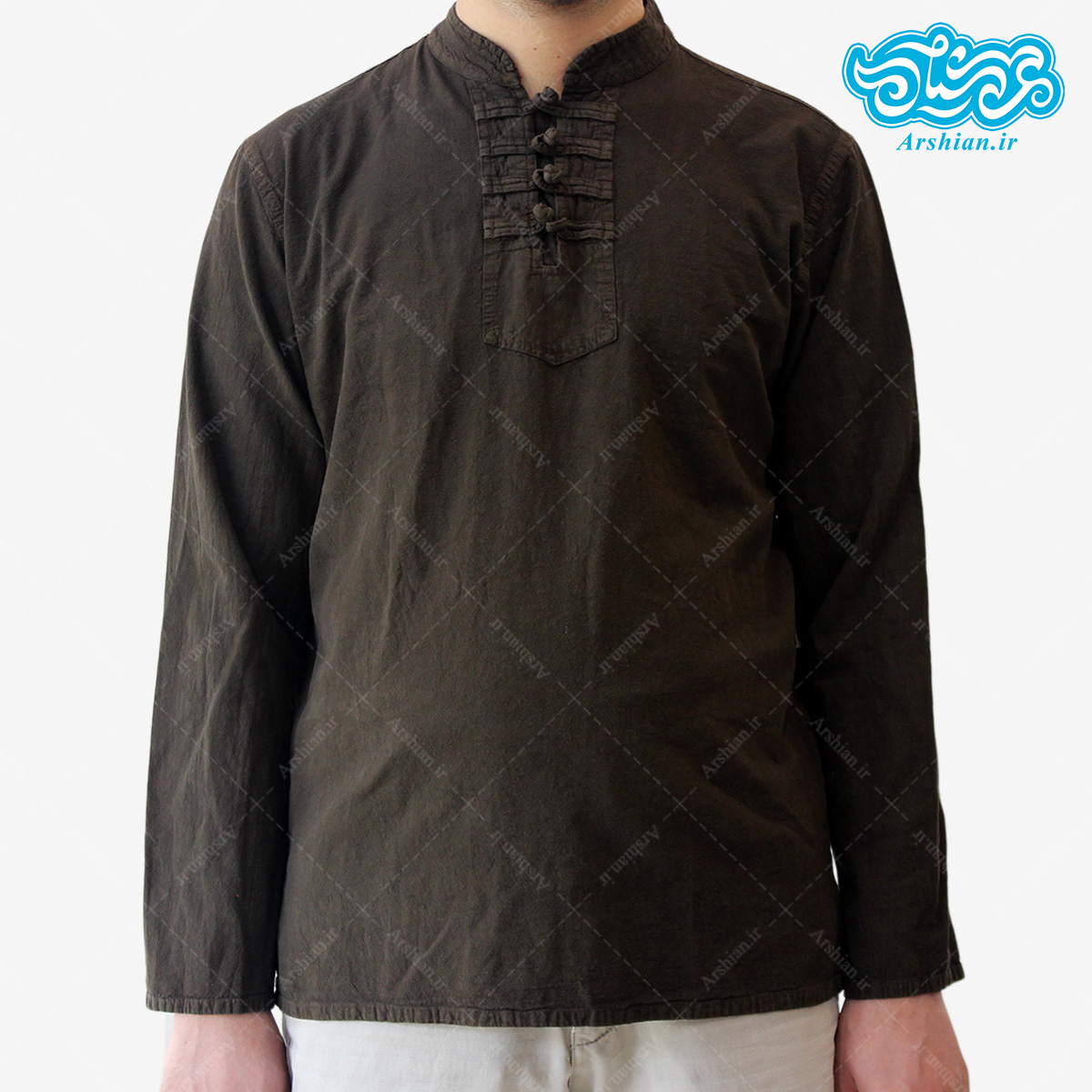 پیراهن الیاف طبیعی طرح گره ای مدل gha001