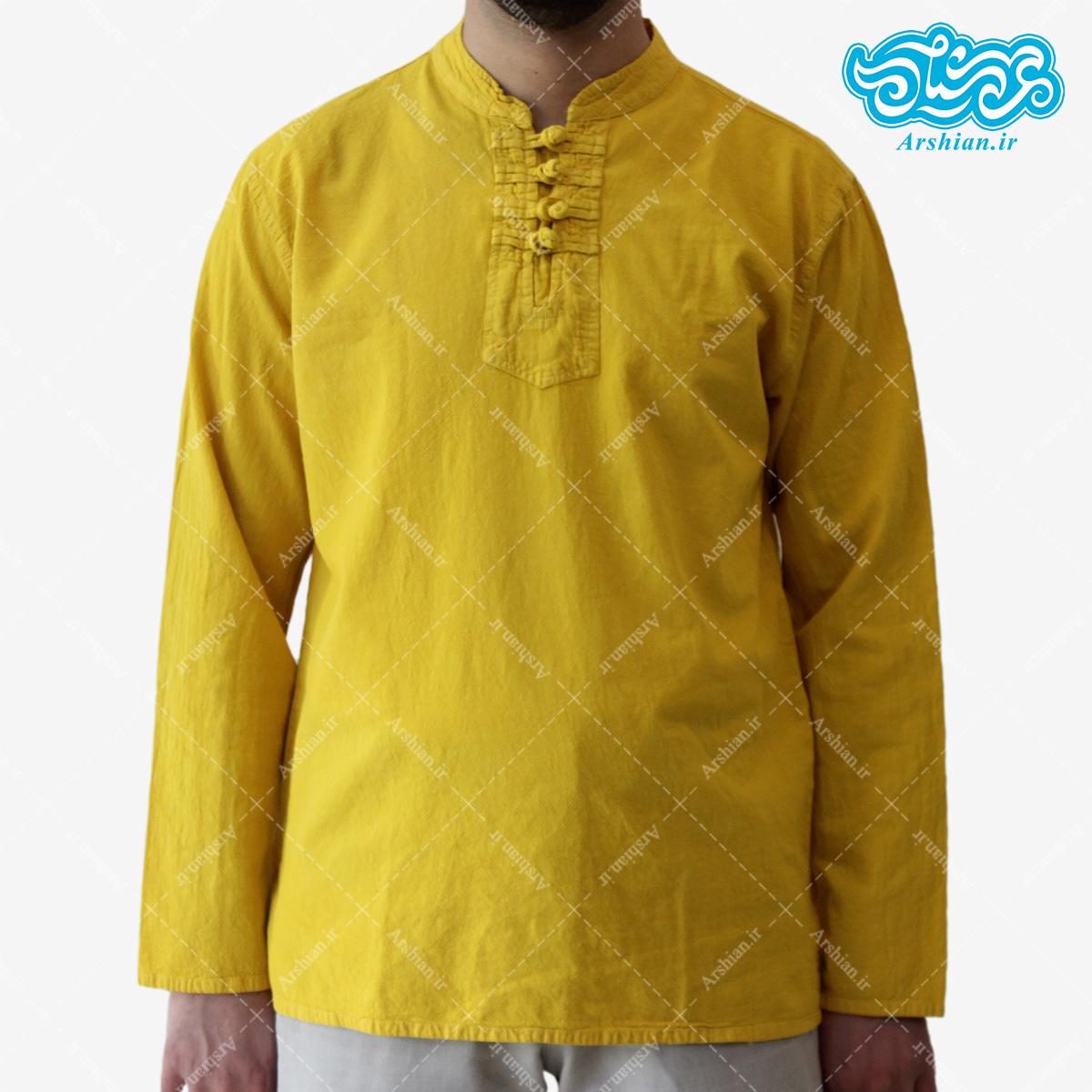 پیراهن الیاف طبیعی طرح گره ای مدل z001