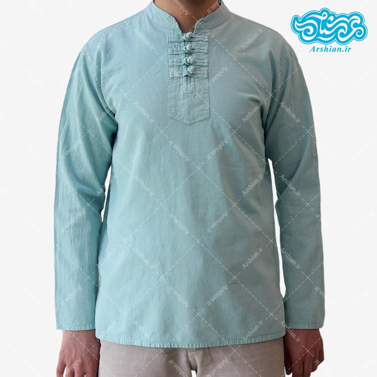 پیراهن الیاف طبیعی طرح گره ای مدل a001