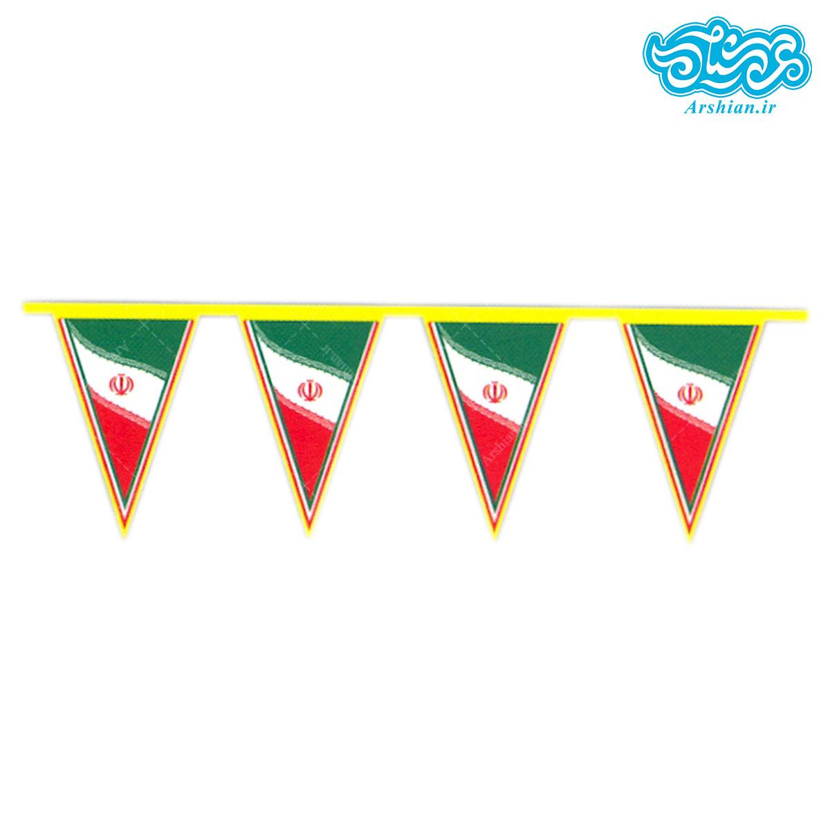 ریسه پرچم ایران کد 001