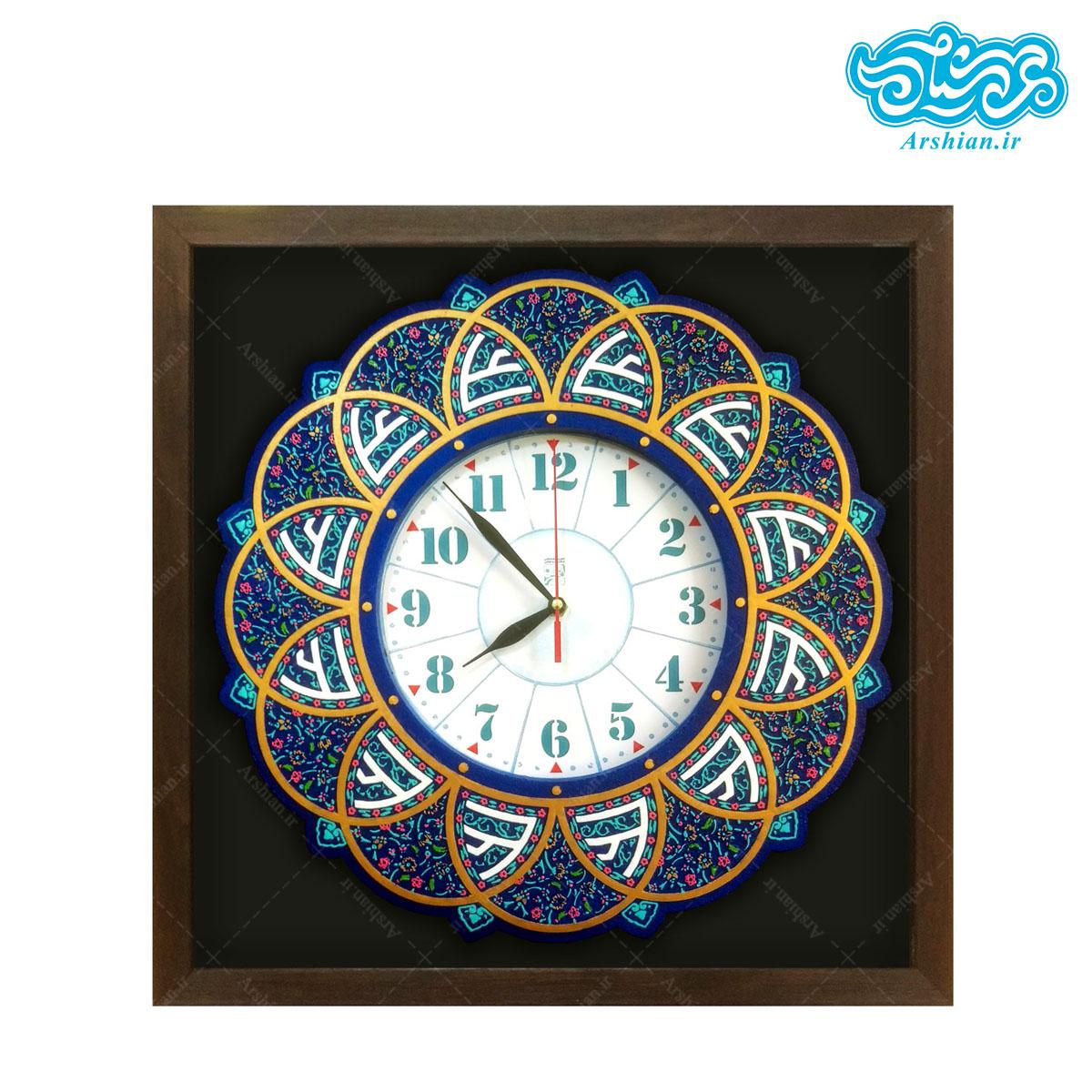 تابلو ساعت کتیبه علی علیه السلام کد ۱۷۱