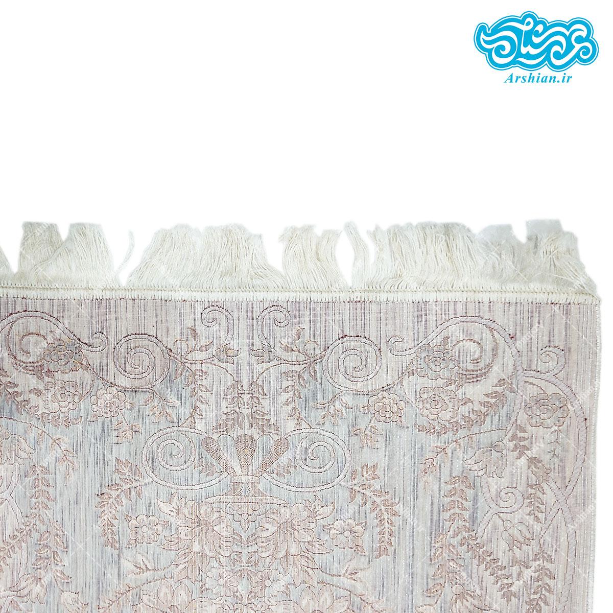 سجاده مخمل طرح فرش آبی زمینه کرم کد 010